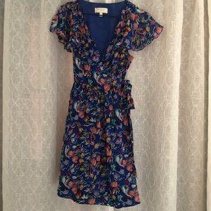 Moulinette Soeurs Blue Sapphire flutter wrap dress